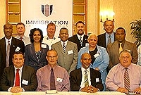 Cayman's immigration officials and leaders of government at the three-day (19-21 February) Regional Heads of Immigration Conference held in Grand Cayman. Representatives from Jamaica, Turks and Caicos, the British Virgin Islands, the Bahamas, Bermuda, Montserrat, Anguilla, the United Kingdom and the United States were also in attendance.